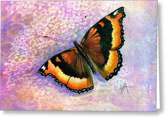 Tortoiseshell Butterfly Greeting Card by Marilyn Smith