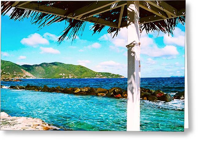 Tortola Cabana Greeting Card
