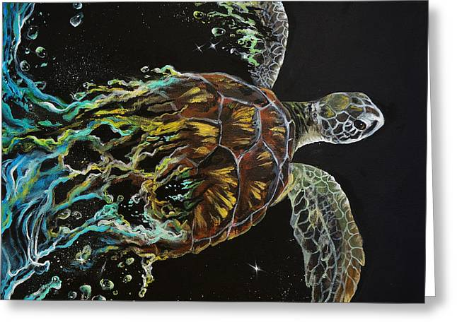 Tortuga Greeting Card by Marco Antonio Aguilar