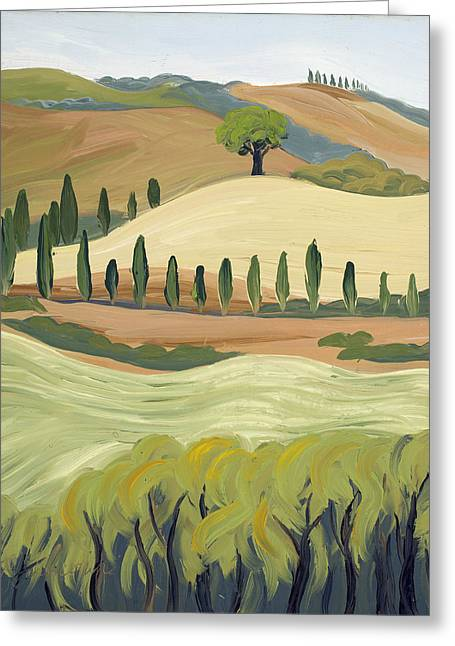 Toscana Greeting Card by Mary Giacomini