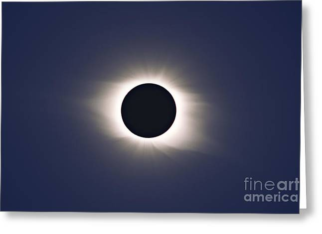 Total Eclipse Of Sun Greeting Card by Alan Dyer