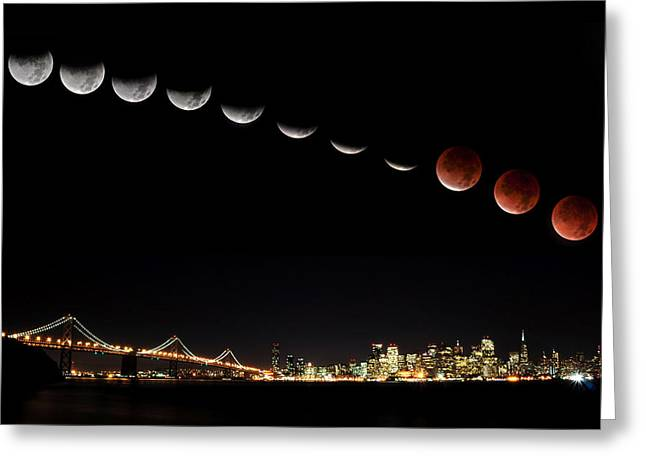 Total Eclipse Of The Moon Greeting Card