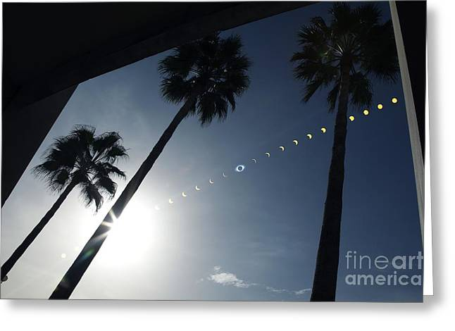 Total Solar Eclipse Sequence Greeting Card by Detlev Van Ravenswaay