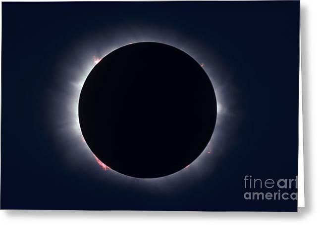 Total Solar Eclipse Taken Greeting Card by Alan Dyer