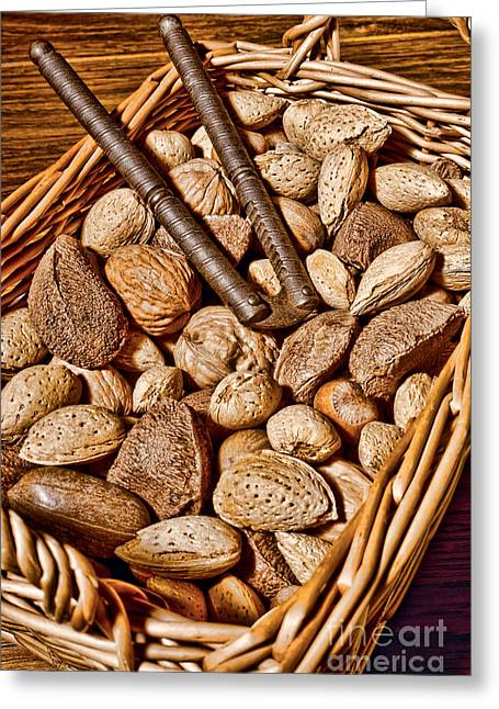 Totally Nuts Greeting Card by Olivier Le Queinec