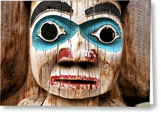 Totem Face Greeting Card