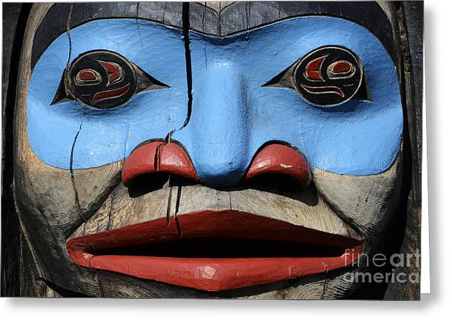 Totem Pole 4 Greeting Card by Bob Christopher