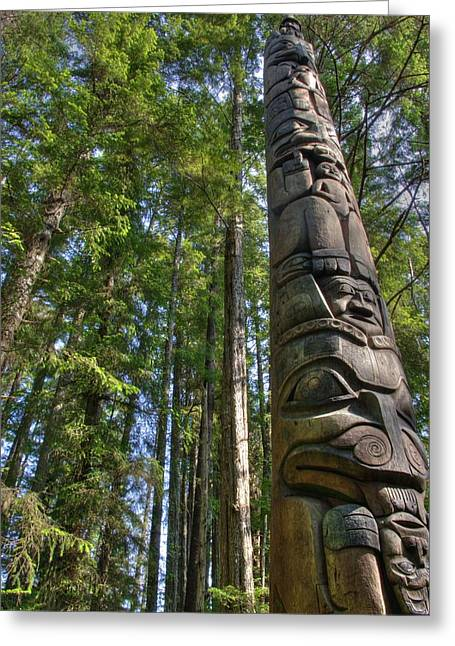 Totem Pole Greeting Card