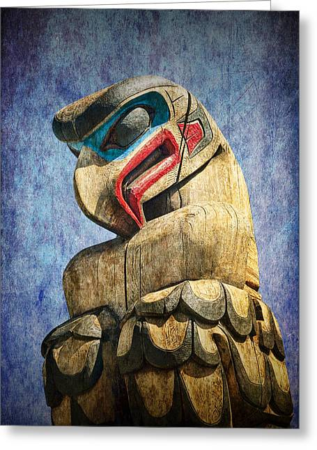 Totem Pole On Vancouver Island In The Pacific Northwest No. Ol 1400 3 Greeting Card