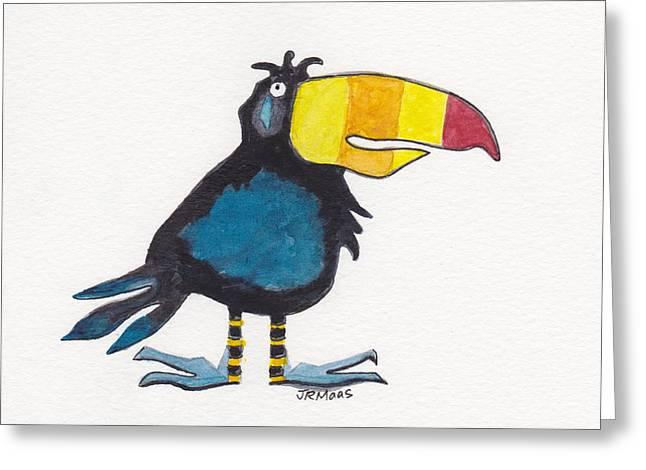 Toucan Cutie Greeting Card by Julie Maas