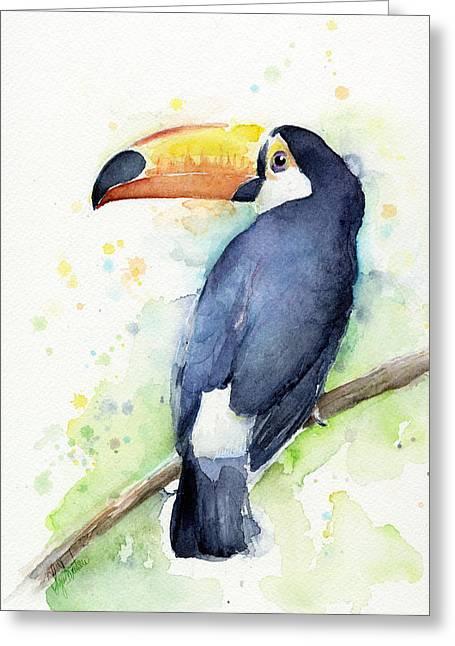 Toucan Watercolor Greeting Card