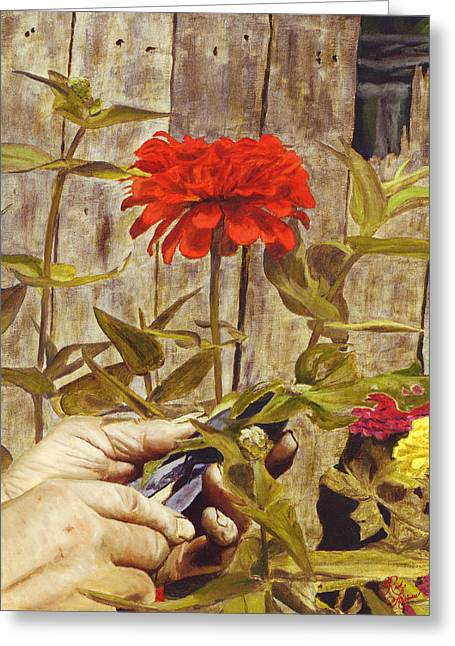 Touch Of The Master's Hand Greeting Card by Rick Fitzsimons