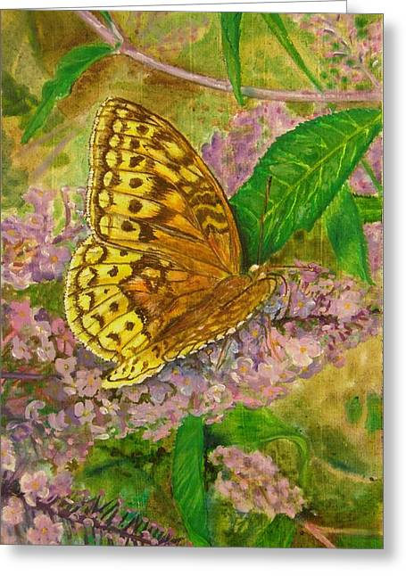 Touchdown On Purple Greeting Card