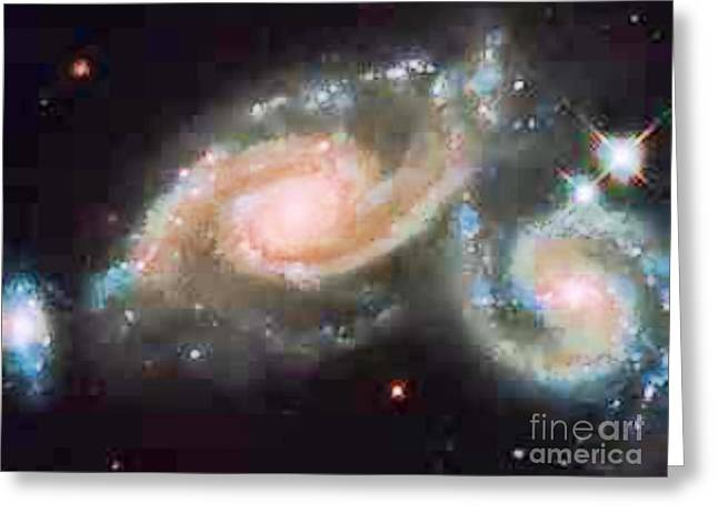 Touching Galaxies Greeting Card