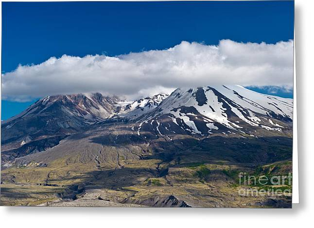 Touching Mt. St. Helens Greeting Card by Jackie Follett