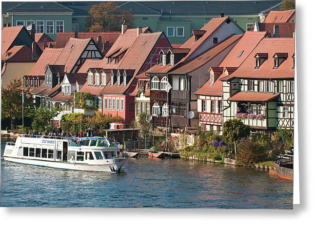 Tour Boat In Little Venice (klein Greeting Card