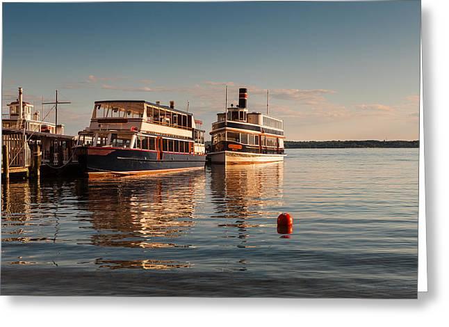 Tour Boats Lake Geneva Wi Greeting Card