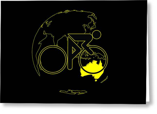 Greeting Card featuring the digital art Tour De France 2011 Tribute by Brian Carson