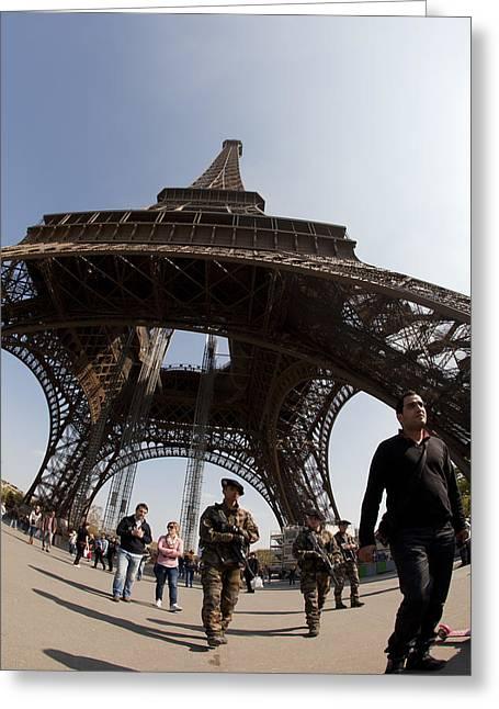 Tour Eiffel 3 Greeting Card by Art Ferrier