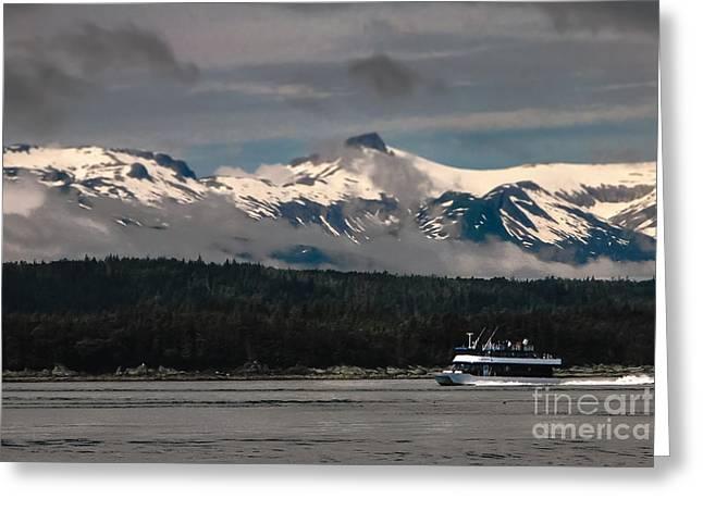 Touring Alaska Greeting Card by Robert Bales
