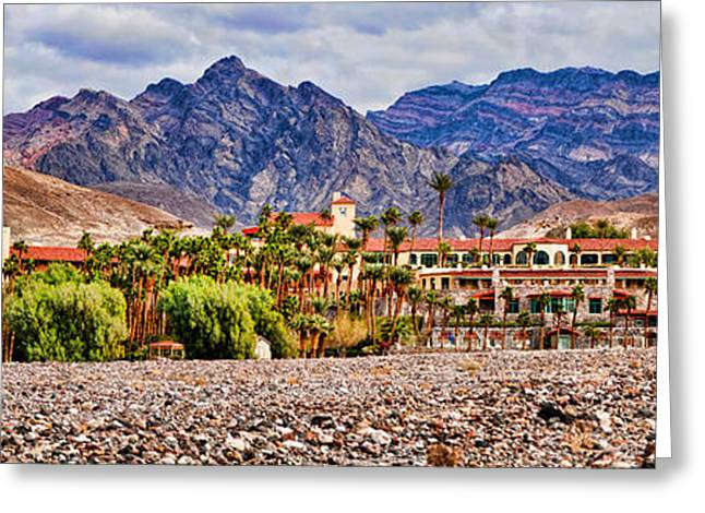 Tourist Resort, Furnace Creek Inn Greeting Card by Panoramic Images