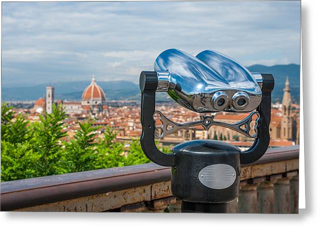 Touristic Florence Greeting Card by Gurgen Bakhshetsyan