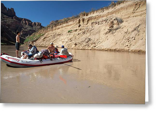 Tourists Rafting Greeting Card by Jim West