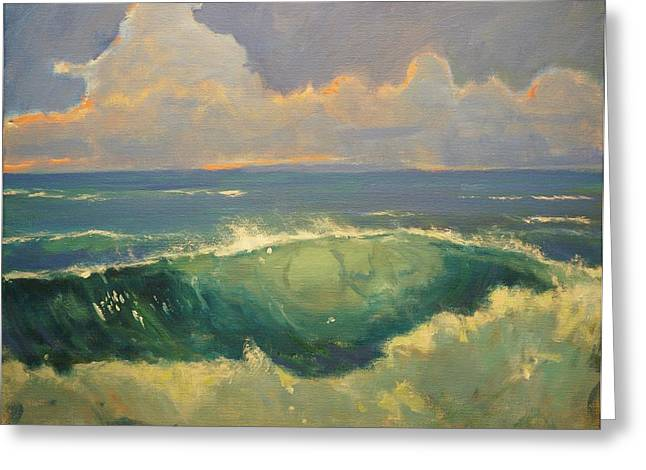 Tourmaline Surf Greeting Card by Jim Noel