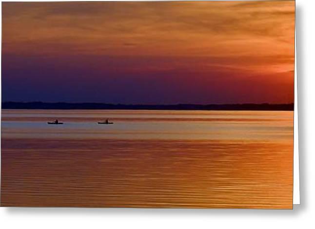 Tours End - Kayak Sunset Photo Greeting Card