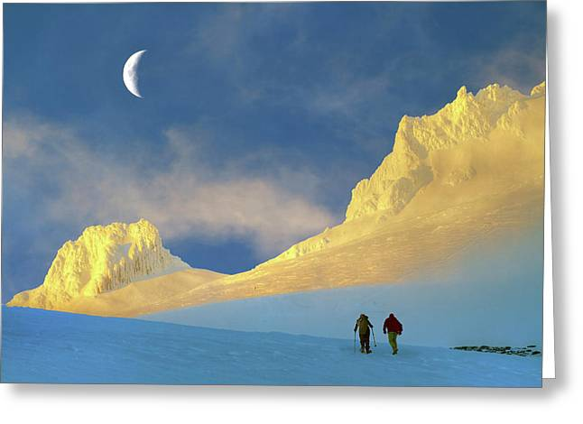 Toward Frozen Mountain Greeting Card