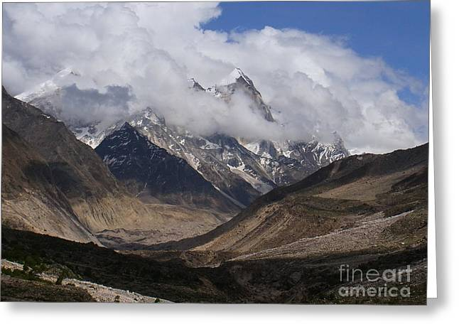 Towards Bhagirathi Greeting Card by Agnieszka Ledwon