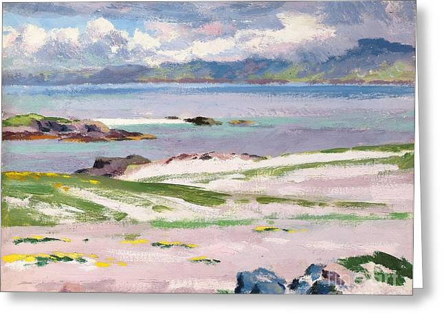 Towards Mull From Choc Ard Anraidh Greeting Card by Francis Campbell Boileau Cadell