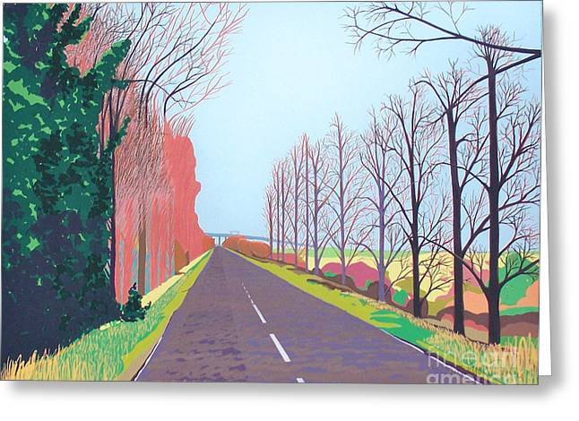 Towards The Sheppey Crossing Fom Iwade Greeting Card by Janet Darley