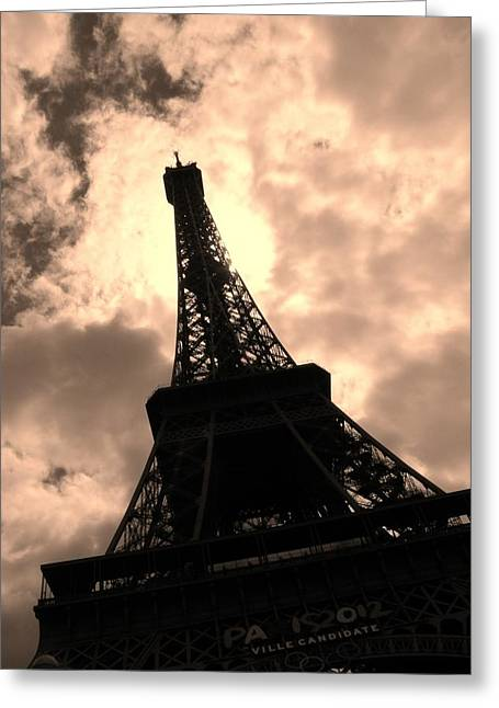 Tower And The Sky Greeting Card