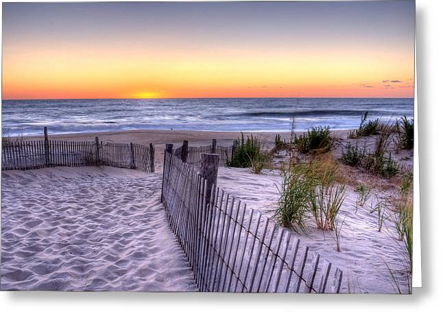 Tower Beach Sunrise Greeting Card