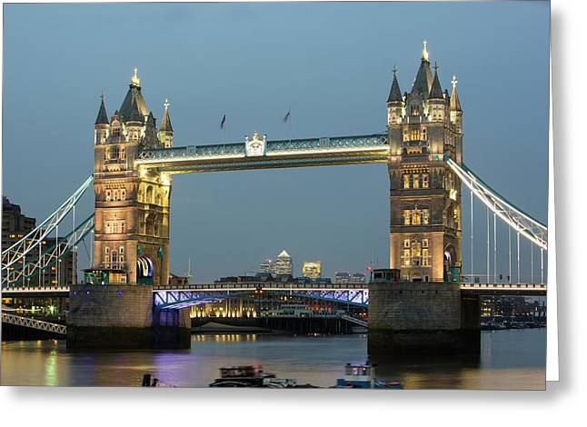 Tower Bridge Across The River Thames Greeting Card