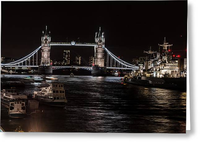 Tower Bridge London England Greeting Card by John Hastings