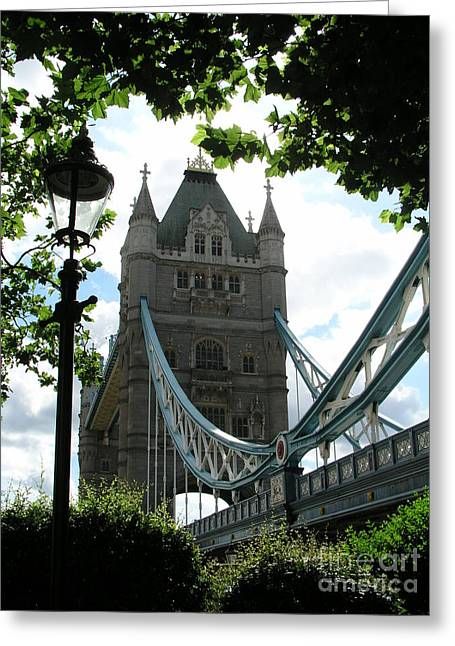 Tower Bridge Greeting Card by Bev Conover