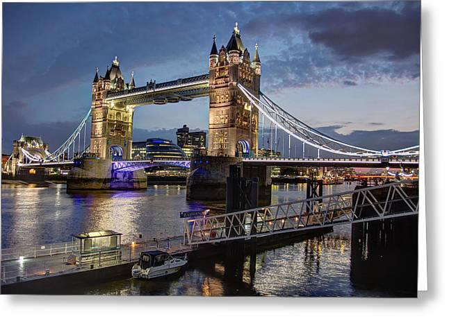 Greeting Card featuring the photograph Tower Bridge by Brent Durken