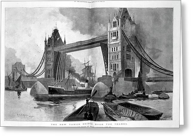 Tower Bridge Greeting Card by British Library