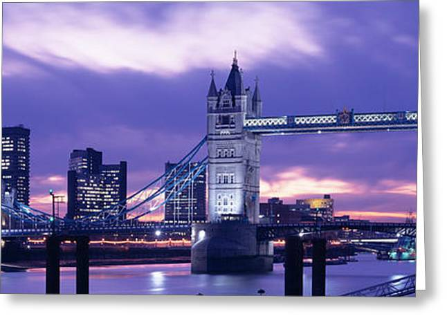 Tower Bridge, Landmark, London Greeting Card by Panoramic Images