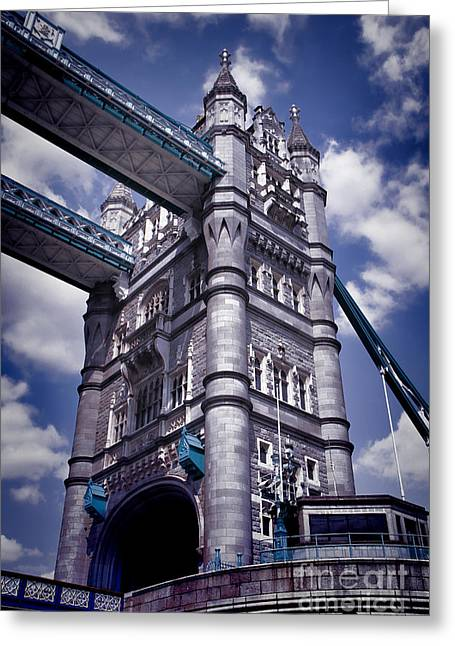 Tower Bridge London Greeting Card by Kasia Bitner