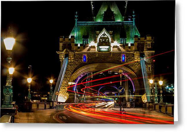 Tower Bridge Greeting Card by Martin Newman