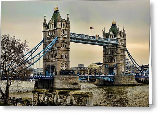 Tower Bridge On The River Thames Greeting Card by Heather Applegate