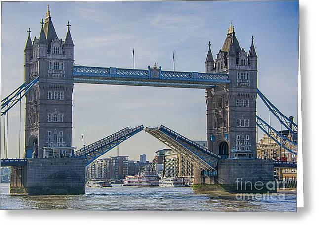 Tower Bridge Opened Greeting Card