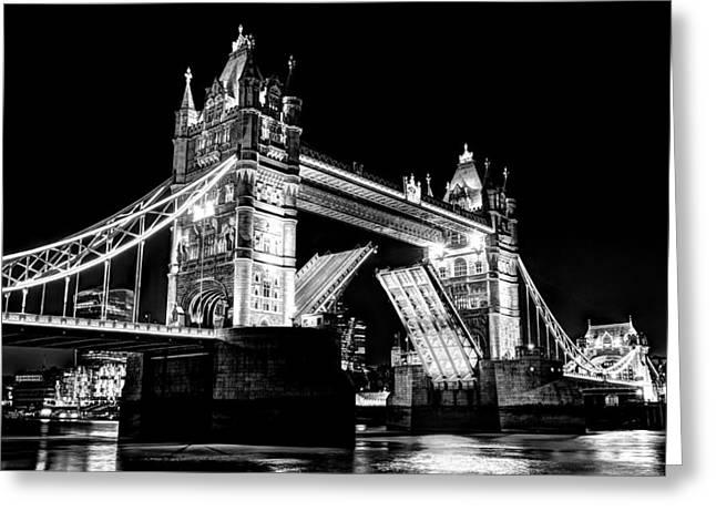 Tower Bridge Opening Greeting Card
