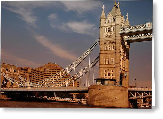 Greeting Card featuring the photograph Tower Bridge Sunset by Jonah  Anderson