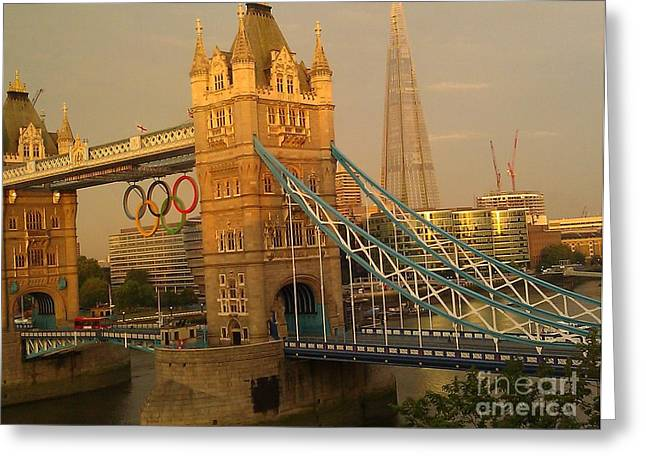 Tower Bridge London Olympics Greeting Card by Ted Williams
