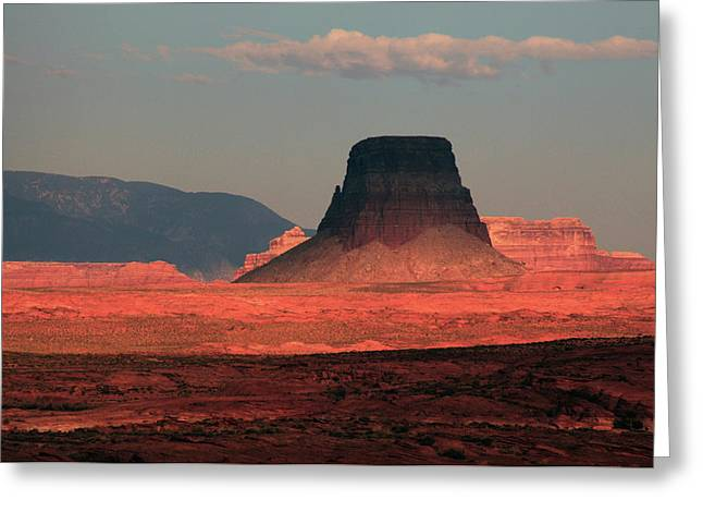 Tower Butte At Sunset, Glen Canyon Greeting Card by Michel Hersen