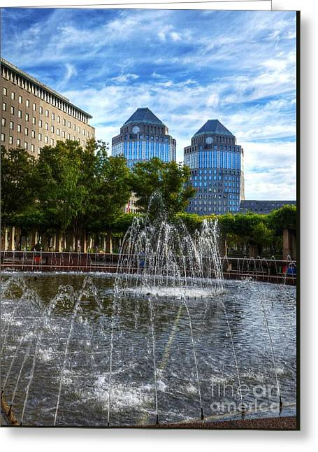 Tower Fountains Greeting Card
